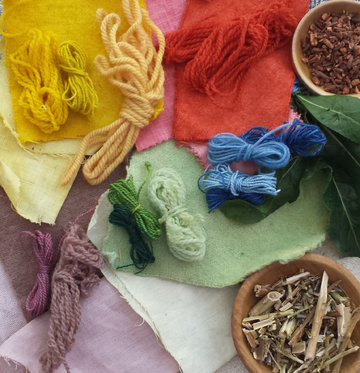 Authentic colours from Early Medieval dye stuffs. | ©Weorod 2016