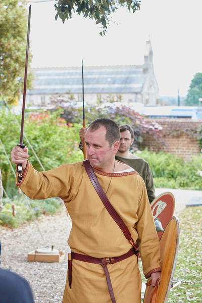 6th/7th Century Saxon Warrior. | ©Hampshire Cultural Trust 2016